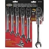 Combination ratchet wrench, flexible, 6 Piece Metric