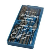 Drain and cutting set, 20-piece, Metric, tapset, cutting set, Tap & cutting set, tap set, cutting set