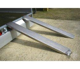 Oprijplaat 200cm aluminium, per stuk , Oprijplaat , Rijplaat , Oprij plaat, oprijplaten