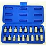 Oil pan plug socket set, 17 pieces, Carter Plug dopset. Carter Plug tool sump plug cap set, Socket sump plug sump plug cap
