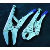Locking pliers set, grip pliers, Grip pliers curved beak, locking pliers