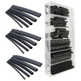 127-piece shrink tube assortment, Black