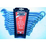 Combination wrench set, 12-piece