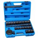 Bearing mounting set, bearing and seal assembly set, lower tool, bearing set, hydraulic press set, bearings and bushings