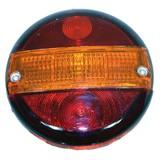 Achterlicht rond, 140mm.+E+kv, Achterlicht, Achterlamp, Aanhanger achterlicht