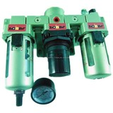 """Air Care kit, Moisture, Oil and moisture separator 1/4 """", Pressure regulator, Moisture, lubricator"""