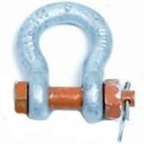 Bow shackle with bolt nut, 0.75 TONS