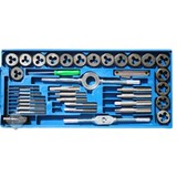 Drain and cutting set, 40-piece, Metric, tapset, cutting set, Tap & cutting set, tap set, cutting set