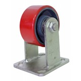 "Heavy fixed castor 200 kg 4 ""rigid caster, Fixed wheel, Bok wheel"