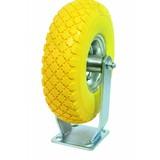 Solid PU rigid caster wheel, Fixed Castor, fixed castor PU, fixed castor