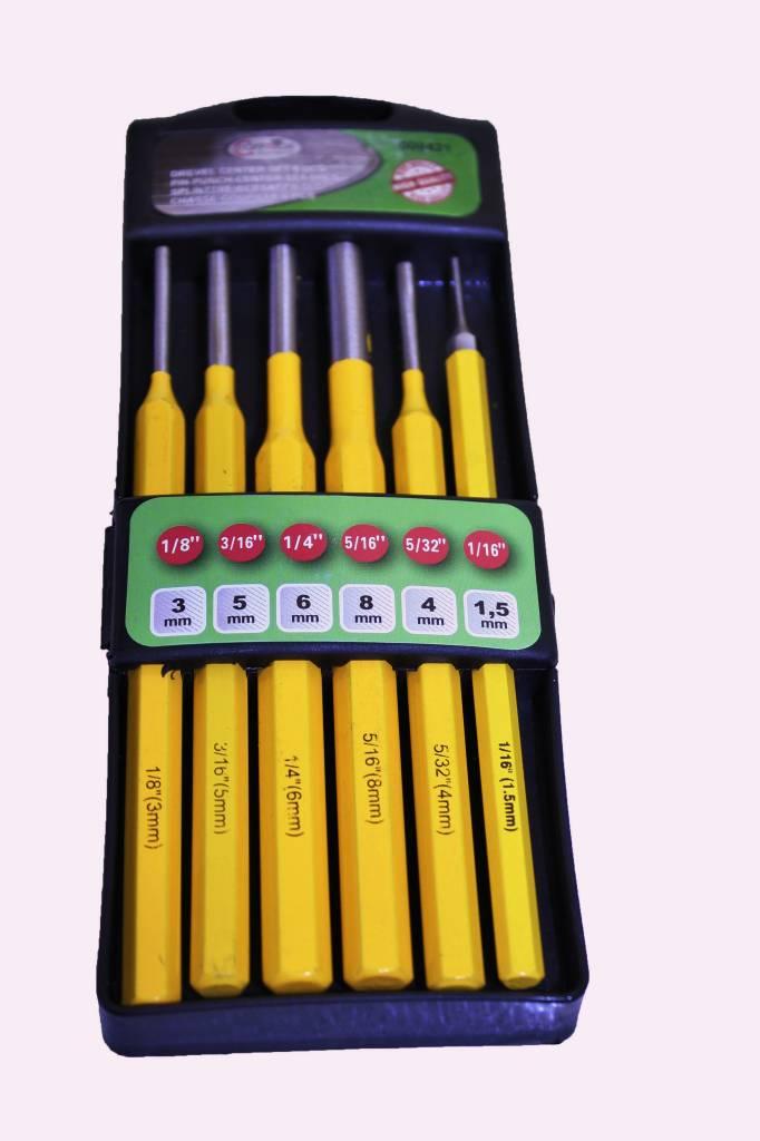 Drijverset 6 delig drijvers doorslagpen doorslag pennen - Een doorslag ...