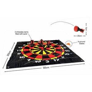 Buitenspeel Dartveld met drie opblaasbare darts