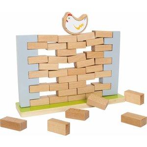 Small Foot Wiebel muur, het spel met de bouwstenen