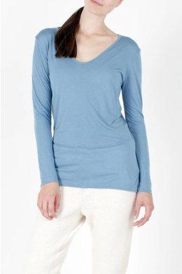 Bleu de Cocagne V Shirt Women - Licht Blauw
