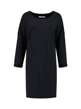 Sylver Stripe Sweat Dress Navy