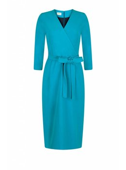 Marcha Huskes Zelda V-Neck Dress Bob Aqua