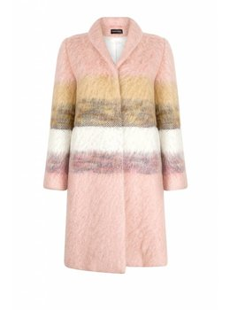 Marcha Huskes Moira Coat Chaumes Wool-Blend Pink