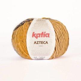 Katia Azteca wol 7848 Oker/ Azuurblauw