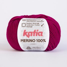 Katia Merino 100% 49 - Bordeauxrood