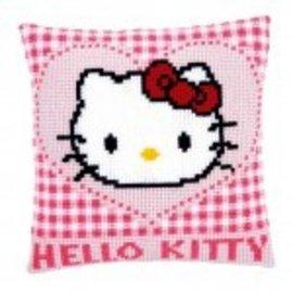 Vervaco Kussen Hello Kitty in een hartje