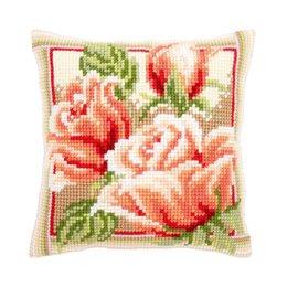 Vervaco Kussen met Roze rozen II