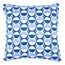 Vervaco Spansteekkussen Blauwe bollen