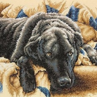 Dimensions Borduurpakket met telpatroon : Labrador