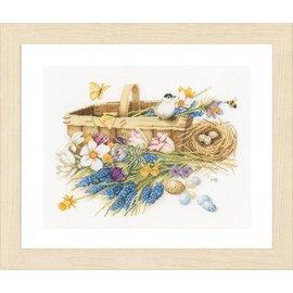 Lanarte Borduurpakket mand met lentebloemen