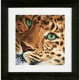 Lanarte Kruisjessteekpakket met telpatroon van Lanarte, Animals, Luipaard