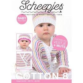Scheepjes Patroon Overslagvestje en Muts Baby/Peuter in Cotton 8