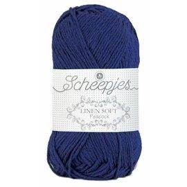 Scheepjes Linen Soft 611 Donkerblauw