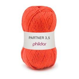 Phildar Partner 3,5 Wol 0006 Vermillon