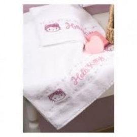Vervaco Hello Kitty, set van 2 handdoeken 30 x 50 cm met telpatroon