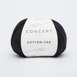 Katia Cotton Yak 114 Zwart