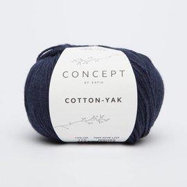 Katia Cotton Yak 115 Donkerblauw