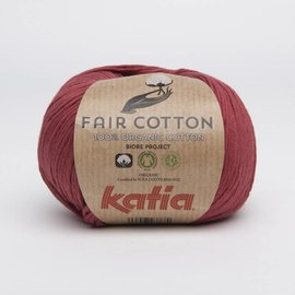 Katia Fair Cotton 27  Wijnrood