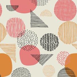 Katia Fabrics Gold Geometric Canvas