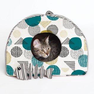 Katia Fabrics Naaipatroon  huisje voor kat en visgraat (P2)