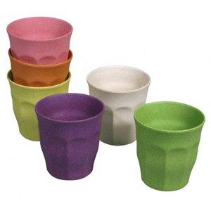 Zuperzozial Bekers - 6 stuks - diverse kleuren