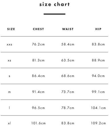 Size tabel women