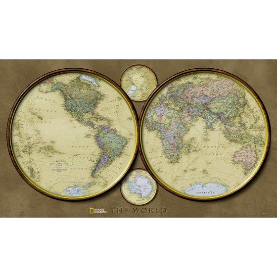 National Geographic Wereldkaart Hemispheres