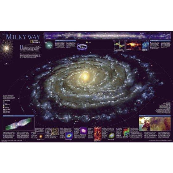 National Geographic 3D kaart Melkweg
