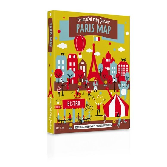 Crumpled City Map Junior Parijs