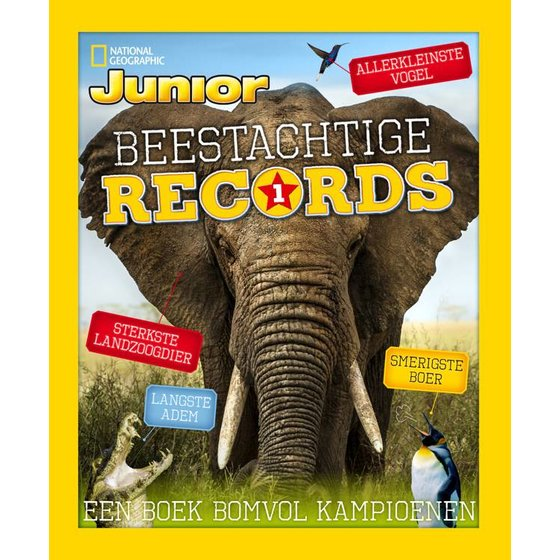 Junior winterboek 'Beestachtige records'
