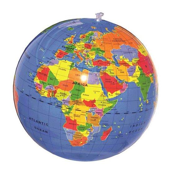 Strandbal wereldbol 30 cm
