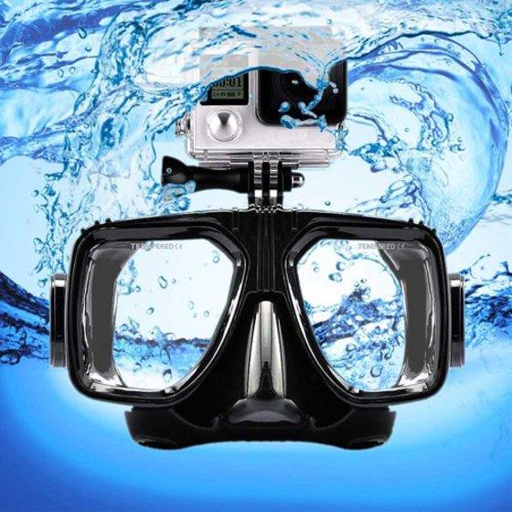 Snorkelbril met Go-Pro aansluiting