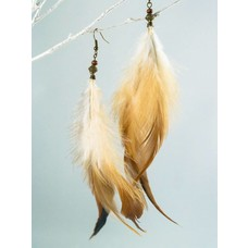 Dangle ear rings with feathers