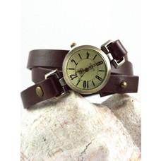Wrap bracelet with watch