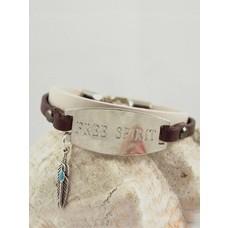Free Spirit - leather bracelet