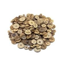 100 Stück Kokosknöpfe 2+4-Loch Durchm: 10 mm + 15 mm + 17 mm + 22 mm + 25 mm HK20